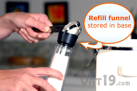 Automatic Sugar Dispenser is simple to refill