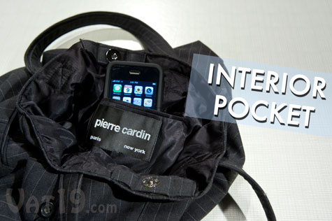 In addition to outside pockets, each Suit Tote features at least one interior pocket.