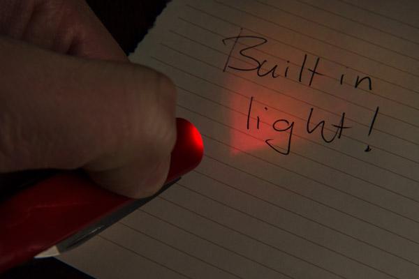 SwissPen X-1 multi function pen has a map light.