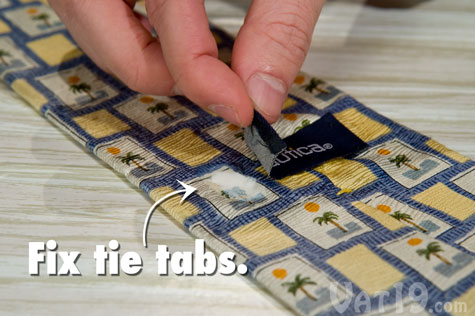 Tear Mender instant adhesive works on delicate fabrics as well.