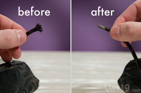 Rub a little Tear Mender between your fingers and fix the end of frayed shoelaces.