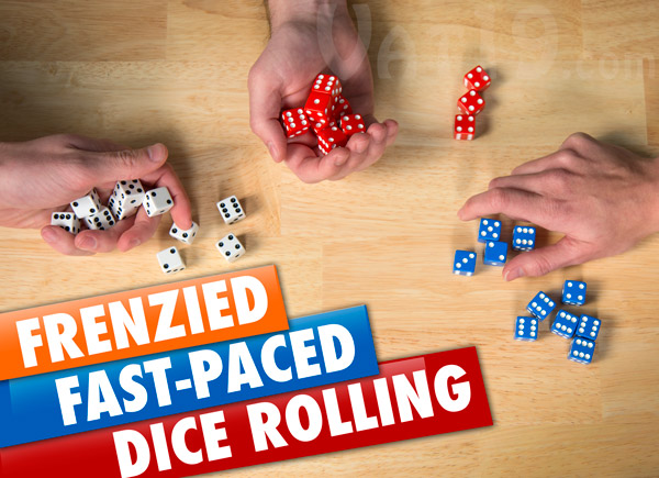 Tenzi is the fast-packed and frenzied dice game.
