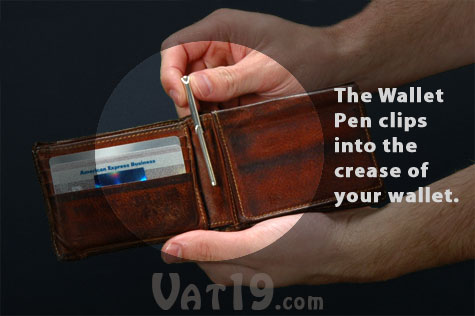 The Wallet Pen is a small pen you can keep in your wallet