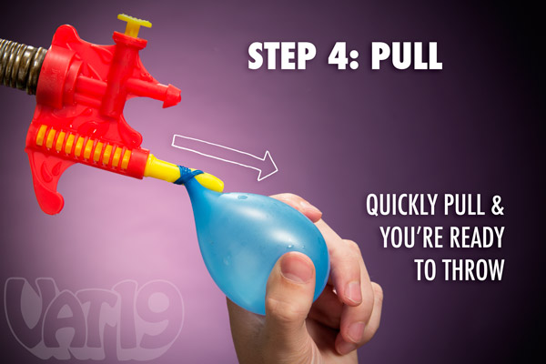 Final Step: Pull the balloon off the end of the tying tool.