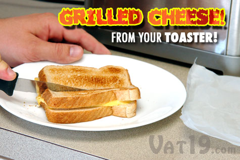 You can make Grilled Cheese in your toaster with the ToastIt Toaster Bag!