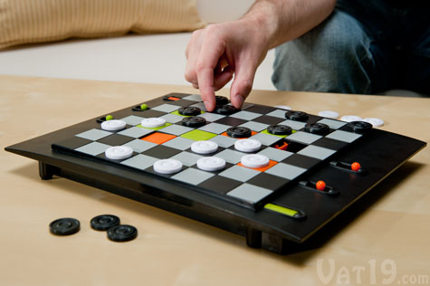 Enjoy a new twist on a classic game with Trapdoor Checkers.