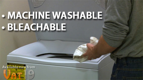 Ultimate Cloth is Machine Washable and Bleachable