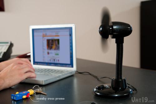 USB Desk Fan is more powerful than most USB desk fans.
