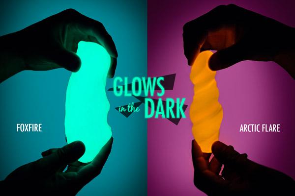 UV Phantom Putty glows in the dark.