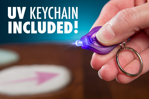 Phantom Thinking Putty includes a UV Keychain Light.