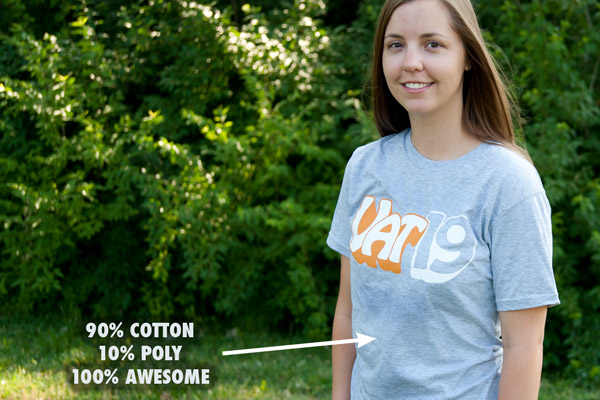 The Vat19 T-Shirt on a Woman