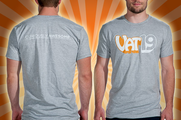 The Vat19 T-Shirt front and back views.