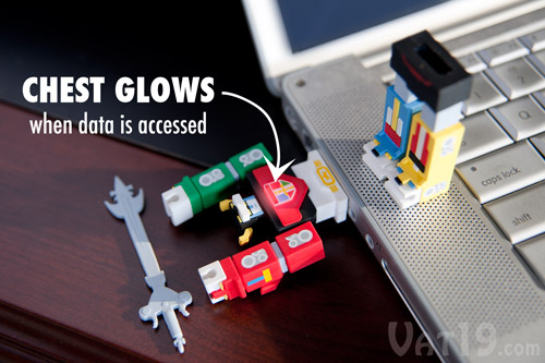 Voltron USB Flash Drive storage for any computer.