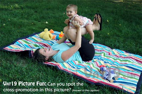 The Tuffo Outdoor Picnic Blanket with waterproof backing also features a soft cotton top-side.