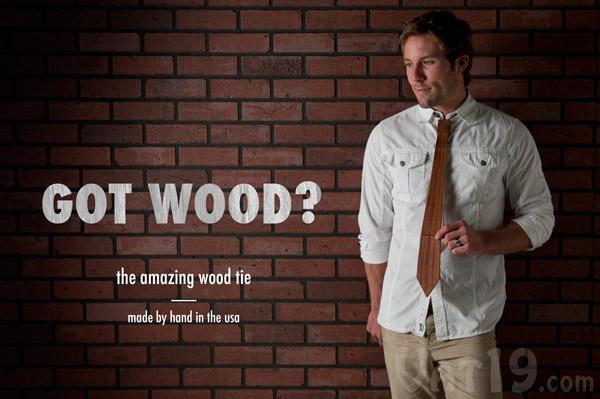 wooden necktie