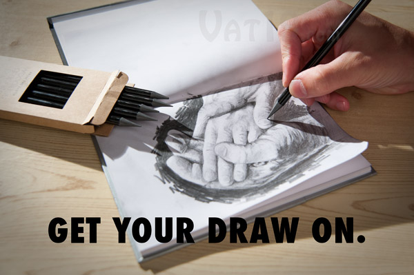 Create beautiful sketches and drawings with the Woodless Graphite Pencils by Xonex.