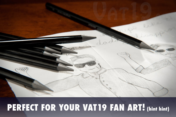 Submit your awesome drawings and fan art to Vat19.com.