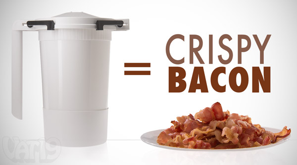 Create crispy bacon in minutes with the Wow Bacon Cooker!