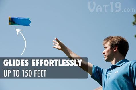 The X-Zylo Air Rider is simple to throw long distances.