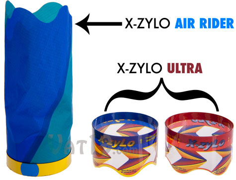 The X-Zylo Flying Gyroscope Toys are available in two styles: X-Zylo Air Rider and X-Zylo Ultra.