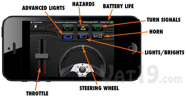 The included app provides precise control over your microcar.
