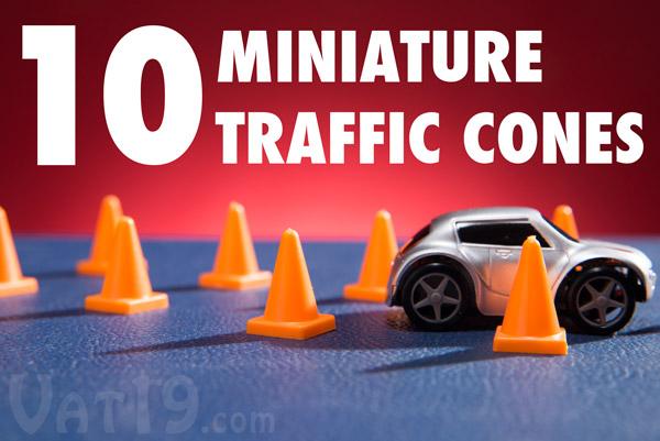 Includes 10 mini traffic cones to test your maneuvering skills.